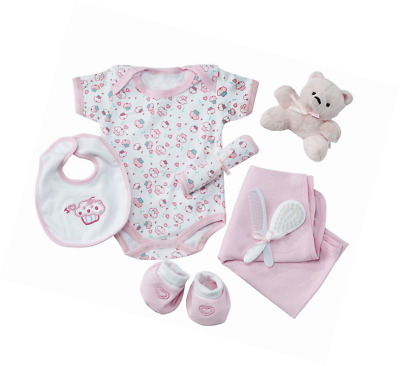 Big Oshi Baby Essentials Gift Basket 9-Piece Layette Set Infant up to 0-6 Months