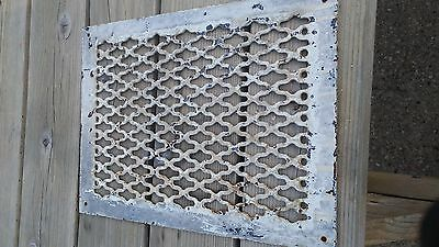 ANTIQUE Wrought Iron FLOOR WALL GRATE REGISTER 12 BY 15 7/8