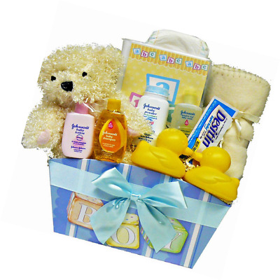 Art of Appreciation Gift Baskets It's A Boy New Baby Gift Basket with Teddy Bear