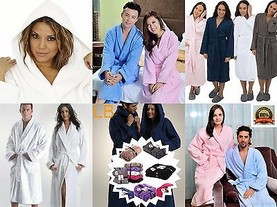 Unisex Egyptian Cotton Soft Towelling Terry Towel Bath Robe Dressing Gown