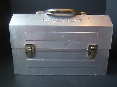 Vintage Strongbox Metal Lunch Box Can Pail Retro Construction Mining Lunchbox
