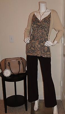 Womens Career Clothing Lot Outfit Size 16 XL Top Cardigan Pants Jewelry