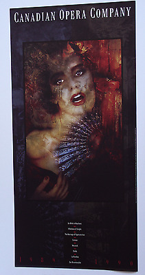 Canadian Opera Company•Official Season 1989-1990•Vintage Poster 18x38