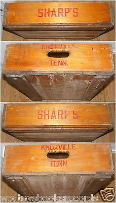 Vintage Knoxville Tennessee Sharp's Drugstore Wooden Delivery Crate 1940s Rare!