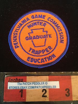 Vtg Pennsylvania Game Commission Patch Hunter Trapper Education C632
