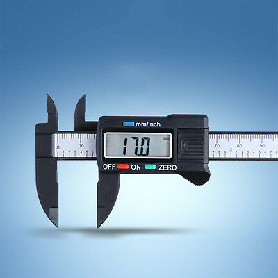 "Digital Electronic Gauge Plastic Vernier Caliper Micrometer 6""/ 150mm JO"
