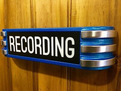 Recording Light up Sign Lamp ART DECO Reproduction old chrome claw style NICE !!