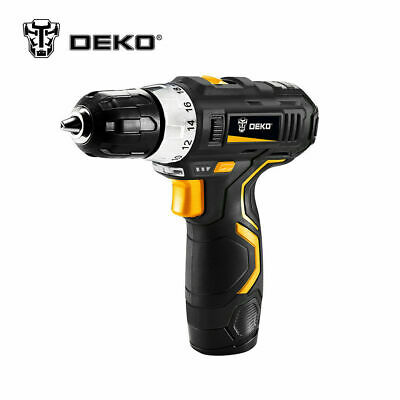 DEKO 3/8 Inch DC Lithium-Ion Battery Cordless Hammer Drill Electric Driver