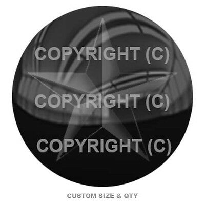 Premium Glossy Round 3D Epoxy Domed Decal Indoor & Outdoor - Nautical Star C105