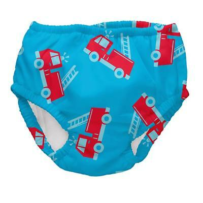 I Play Boys Baby Swim Diaper Turquoise/Red UV Protection 50+ sz. 18-24 Months