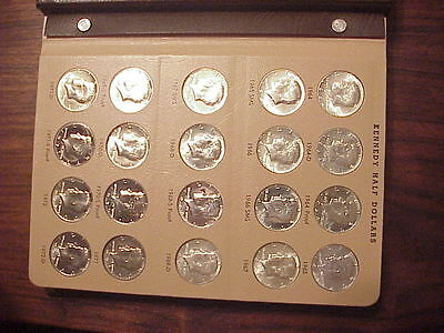 160 Coins, BU, Proof,& Silver 1964-2012-PDSS Kennedy Halves,Complete Set.