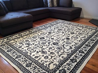 Dalia Cream Black Grey Traditional Rug Extra Large FREE DELIVERY 34