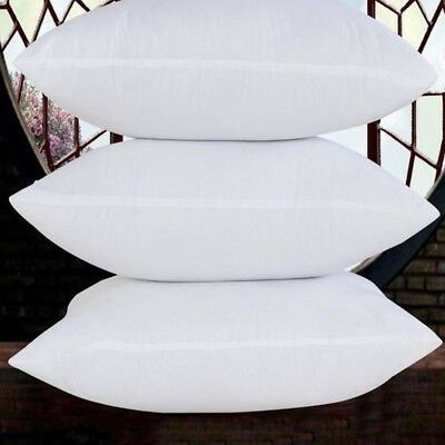 "White Pillow Core Cushion Pads Hollowfibre Inserts Fillers Inners Size 14""-28''"