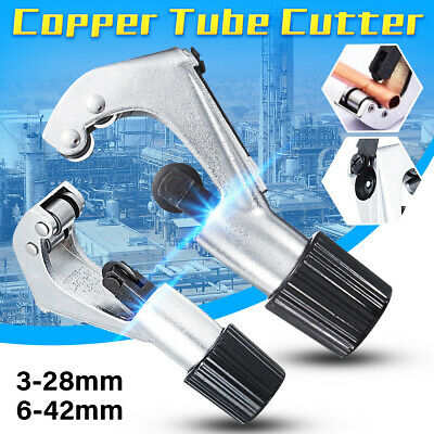 UK 3-28mm 3-42mm Heavy Duty Copper Pipe Cutter Tube Slicer Tubing Plumbing Tool