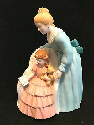 HOMCO Figurine 8825 The Reading Lesson Porcelain 7.5 inches Tall