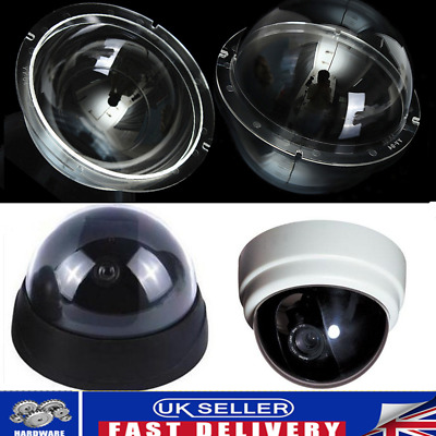 Indoor / Outdoor CCTV Clear Acrylic Camera Dome Housing Cover Replacement 4'' UK