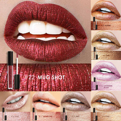FOCALLURE Glitter Matte Liquid Lipstick Waterproof Beauty Makeup Lip Gloss  ZY