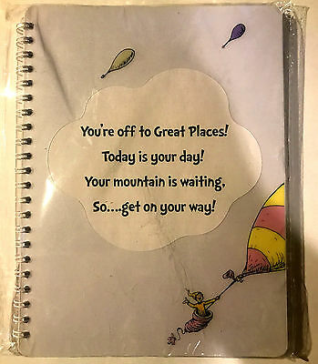 "Dr. Seuss ""Oh! The Places You'll Go!"" Softcover Journal * NIP * Great Gift *"