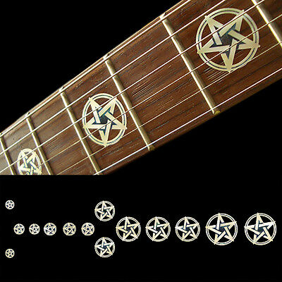 Fret Markers Neck Inlay Sticker Decal Guitar & Bass - Pentagram Kevin Bond