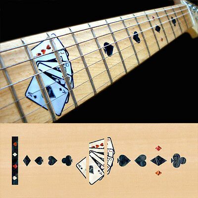 Fret Markers Inlay Sticker Decal For Guitar Neck - Playing Card - Black Pearl