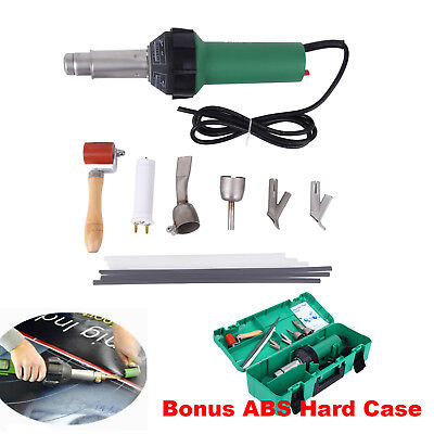 Hot Air Torch Plastic Welding Gun Welder Pistol 1600W + Speed Nozzle + Roller