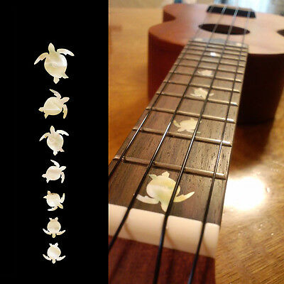 Turtles Honu ( White Pearl ) Fret Marker Inlay Sticker Decal For Ukulele