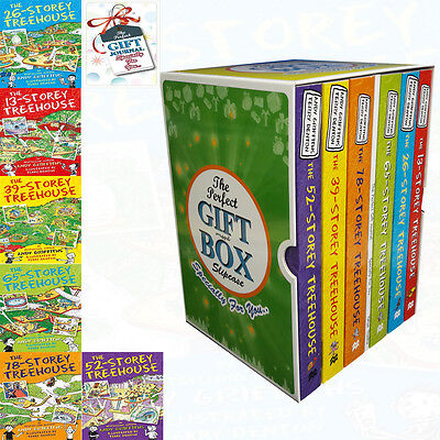 Andy Griffiths Treehouse Collection 6 Books Set With Journal Gift Wrapped Slipca
