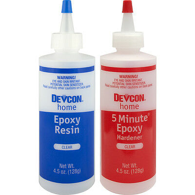 Devcon Clear Epoxy Adhesive Glue Waterproof Ton Strength High Welder Tensile New