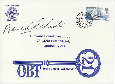 Francis Chichester signed 1967 Chichester FDC