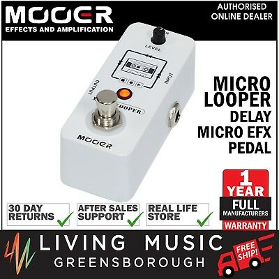 NEW Mooer Micro Looper Electric Guitar Effects Loop Pedal True Bypass