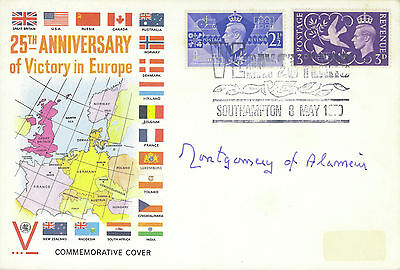Montgomery of Alamein signed 1970 25th Anniversary of VE-Day FDC