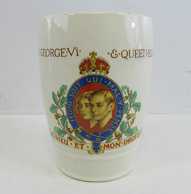British Pottery Coronation Of King George VI & Queen Elizabeth May 1937 Cup