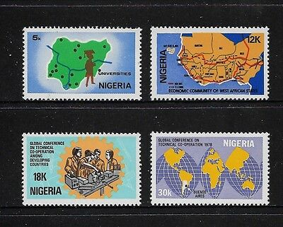 NIGERIA - mint 1978 Global Conference Technical Co-operation, set of 4, MNH MUH