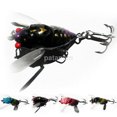 Small Insect Cicada Shape Fishing Lures Bait Fishing Tool Aid Fishing Useful New