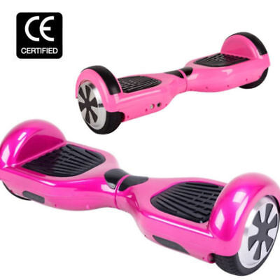 6.5″ HoverBoard Self Balancing 2 Scooter LED Bluetooth Gefackelt Auto Rosa