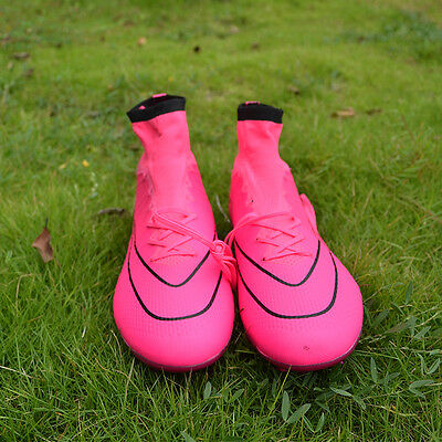 Sufei Soccer Shoes AG Football Boots Superfly Pink Outdoor Cleats Sneakers