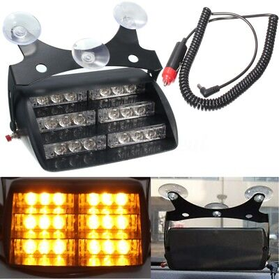 18 LED Car Truck Police 3 Flashing Strobe Emergency Light Amber Flash Dash Lamp