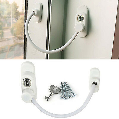 Window Cable Restrictor Lock White Wire Door Protecting Child Kids Baby Safety