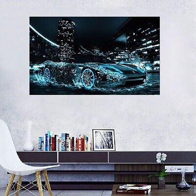 AU DIY 5D Diamond Painting Speed Car Embroidery Cross Stitch Craft Home Decor