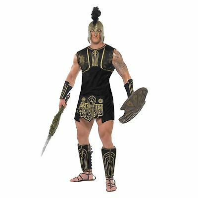 Mens Greek Achilles Costume Fancy Dress Roman Soldier Hero Gladiator Warrior