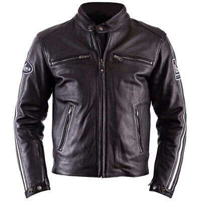 Helstons Jacket Ace Plain Black Motorcycle Motorbike - Black