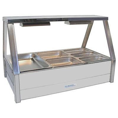 Roband Hot Food Display Bar Rear Roller Doors Stainless Steel Commercial Unit