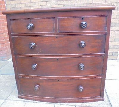 Georgian Bow Fronted Chest Of Drawers