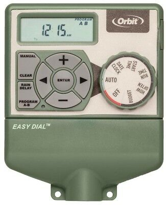 Orbit 4-Station Indoor Easy Dial Timer Irrigation Water Control Garden Watering