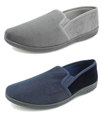 1fec6f707156 Mens Zedzzz Luxury Warm Comfort Velour Shoes Slippers Big Sizes BLUE GREY  6-14
