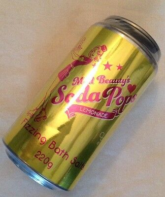 ** NEW ~ Mad Beauty ~ Soda Pops ~ Lemonade ~ Fizzing Bath Salts ~ 220g **