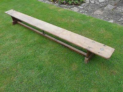 Antique Pitch Pine School Bench