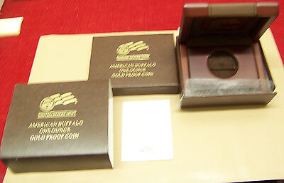 2009 W Gold Buffalo one ounce PROOF BOX and COA ONLY!!!!  NO COIN