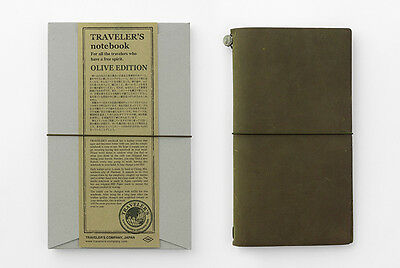 Traveler's Company Reg. Size Travelers Notebook Olive Edition