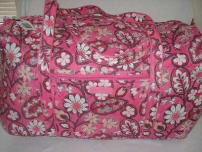 NEW Vera Bradley Large Duffel Travel Bag in Blush pink